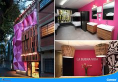 Hostal La Buena Vida en la Ciudad de México es otro espacio que refleja el nuevo estilo mexicano en decoración. #ColoresDeMiMéxico