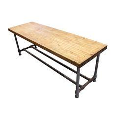 Industrial Butcher Block Table : Aurora Mills Architectural Salvage