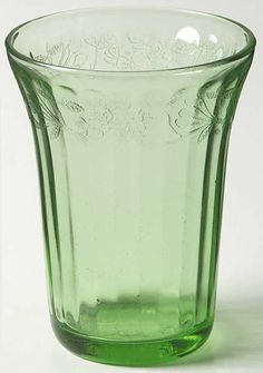 Jeannette glass | Jeannette Glass Cherry Blossom Green  - I have one of these in pink!