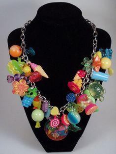 Sugar Rampage Crazy Candy Charm Necklace