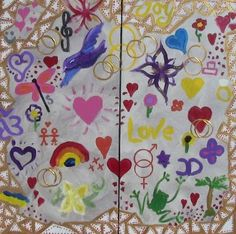 It's My Wedding Sunshine Coast Expo 2012 - vibrant group paintings using doodles #DoodleJam http://www.doodlejam.com