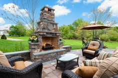 Gather by the fire for good conversation at this Estates at Bamm Hollow home