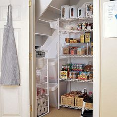 find this pin and more on homegarden kitchen pantry organization store under stairs - Under Stairs Kitchen Storage