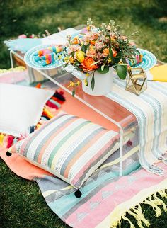 Private picnic at home in the garden!