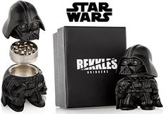 THE FORCE IS STRONG WITH THIS ONE: You can find a lot of herb mills! But a unique and powerful Darth Vader one is truly unique and original! Grind your tobacco, herb and spices in your new Star Wars themed tobacco grinder accessory!, COMES WITH POLLEN KIEF KATCHER: All you got to do is grinding your dry herbs and spices, collect the final product with our kief catcher and have a relaxing tobacco smoking with our accessories!, DURABLE, COMPACT ` POWERFUL: Star Wars grinder