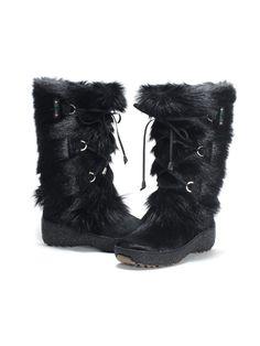 Pajar boots Fur Boot in Black | Lyst