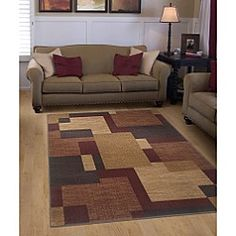 Jaclyn Smith Today	Soft Blocks Rug Collection  Sold by Kmart