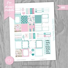 Free Printable Spring Pastels Planner Stickers {Mini Happy Planner} from Vintage Glam Studio