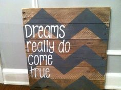 Wood Pallet Art -Chevron Dreams come true on Etsy, $50.00