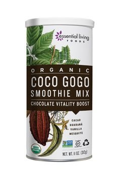 Bursting with superfood energy and nutrition, this mix will help keep you going strong and focused. It's full of delicious chocolate flavor enhanced with fiber, complex carbs, minerals, and whole-seed guarana. Hot or cold, this elixir makes for a great alternative to coffee.  Guarana's memory-enhancing and stamina-boosting qualities combine with Cacao to make an exceptional energy blend.