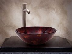 Glass Vessel Sinks, Amber Color, Illusions, Smooth, Fire, Create, Colors, Hot, Black