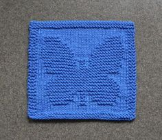 BUTTERFLY Knit Dishcloth Hand Knitted Unique by AuntSusansCloset, $6.50