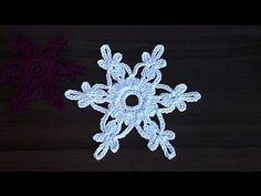VERY EASY Сrochet snowflake Tutorial - YouTube                                                                                                                                                                                 More
