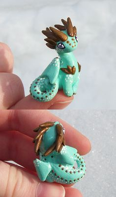 Minty 'Thumb' Dragon by KingMelissa on deviantART