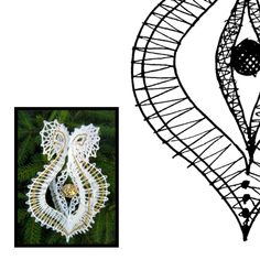 Klöppelbrief Weihnachten 3D -Spitze Needle Lace, Bobbin Lace, Lacemaking, Lace Heart, Lace Jewelry, Lace Detail, Macrame, Mary, Flowers
