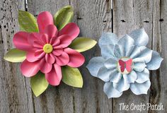 The Craft Patch: Paper Flower Tutorial