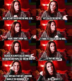 Catherine Tate, forever knowledgable about the show she starred in. She's awesome! Doctor On Call, Doctor Who, Sarah Jane Smith, Catherine Tate, Dr Watson, Answer To Life, Donna Noble, Don't Blink, Girl Problems