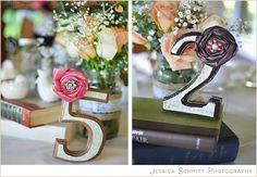 DIY wedding: gorgeous handmade table numbers #shabbychic