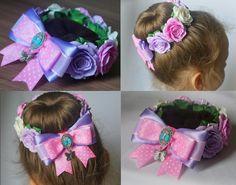 Фотография Flower Hair Bows, Ribbon Hair Bows, Diy Hair Bows, Headband Hairstyles, Diy Hairstyles, Bun Wrap, Unicorn Headband, Hair Decorations, Boutique Hair Bows