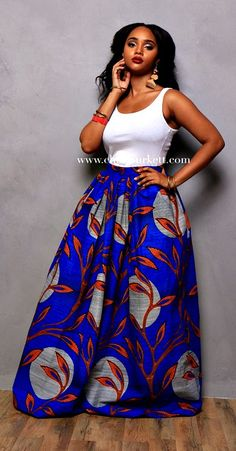 Africant Print Maxi: The Calla Maxi. Gently gathered and sits comfortably above the natural waist. Ankara | Dutch wax | Kente | Kitenge | Dashiki | African print bomber jacket | African fashion | Ankara bomber jacket | African prints | Nigerian style | Ghanaian fashion | Senegal fashion | Kenya fashion | Nigerian fashion | Ankara crop top (affiliate)