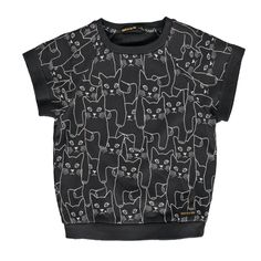 ILENA Summer Black Cats - Girl Short Sleeves Sweater #girls #solde-50 #solde-active #solde-ete #ss16 #sweaters-cardigans-sweatshirts #tva_included