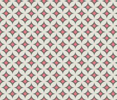 Thinking this may be great on the bedding...possibly the bumper?   diamond_circles_coral fabric by holli_zollinger