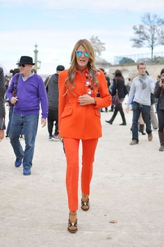 Fit is fantastic, color pops on a cloudy day, Anna Dello Russo