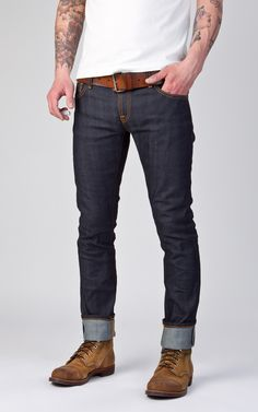 Nudie Jeans Tight Long John Dry Selvage Comfort 12.5oz