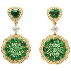 owl face intaglio moonstone diamond drop earrings Sevan Bi?ak?i HIBwST