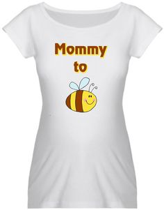 Mommy to Be cute bee maternity shirt. via Etsy.