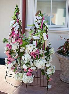 Escort Card Trees...although I caution doing anything this complex for a large group...guests need to have simplicity when it comes to finding their seating...otherwise, they become discontent...Great idea for a smaller group.