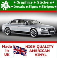 Audi Large Set Kit Car Stripes Decal Vinyl Sticker Graphics Racing Auto Decal 5