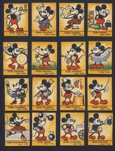 "AtTLAS PRAHA  ""MICKEY MOUSE THEATRE GIVEAWAY TRADING CARDS""  [MICKEY MOUSE & FRIENDS]  TIME PERIOD: 193?"