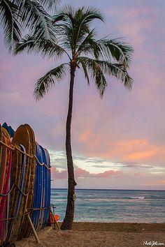 Surfboards at Waikiki Beach, Honolulu, Oahu, Hawaii  I can't wait to go see my BFF!!!  Honolulu here I come!