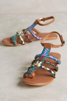 Deepa Gurnani Embroidered Sandals #anthrofave