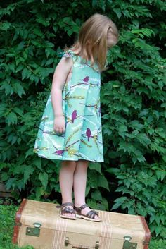 Love this fabric- designer made the adorable tea for two dress (blog)