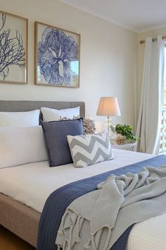 28 Best Rustic Shabby Chic Bedroom Decorating Ideas, When you decorate your bedroom with artwork you're only restricted by your imagination. The bedroom is the comfortable retreat in a house. Shabby Chic Master Bedroom, Home Decor Bedroom, Bedroom Ideas, Bedroom Art, Coastal Bedrooms, White Bedrooms, Bedroom Green, Shabby Chic Furniture, Interior Design