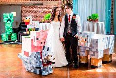 Casamento tem como tema Minecraft