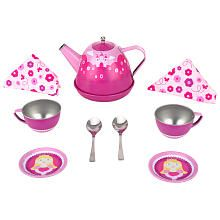 FAO Schwarz Tin Tea Set with Carrying Case sold at ToysRus