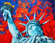 Statue Of Liberty - Lady Liberty Painting by Patricia Awapara