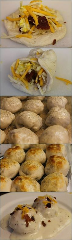 Sounds yummy!!!Breakfast Bubble Biscuits (Stuffed)