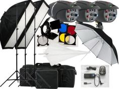540w Studio Flash Lighting set 3 x 180 watt Light Kit: Amazon.co.uk: Camera & Photo