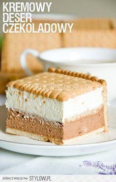 Składniki: 350 ml śmietany 250 g serka mascarpone Baking Recipes, Cake Recipes, Dessert Recipes, Delicious Desserts, Yummy Food, Low Carb Side Dishes, Caking It Up, Dessert Buffet, Polish Recipes