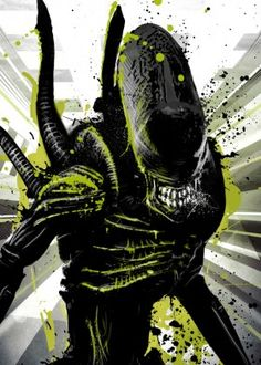 black white space and horror science fiction alien fi sci