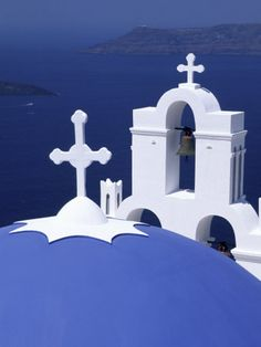 Dome and Crosses of Greek Church