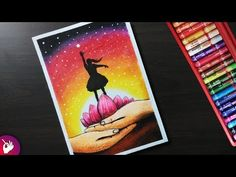 How to draw Save girl child drawing - Pastel drawing - YouTube