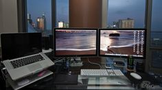 Beautiful dual Mac Thunderbolt external monitor rig - $2,000, worth it? Hell yes.