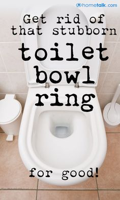 Chemical free trick to clean that nasty toilet bowl ring. lean That Stubborn Toilet Bowl Ring for Cents! Homemade Cleaning Products, Household Cleaning Tips, Toilet Cleaning, Household Cleaners, Cleaning Recipes, Bathroom Cleaning, House Cleaning Tips, Natural Cleaning Products, Spring Cleaning