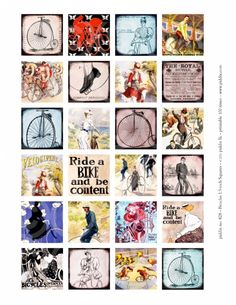 828. Bicycles 1.5 inch Squares