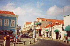 Bonaire, island in Netherlands Atilles - downtown Kralandijk.